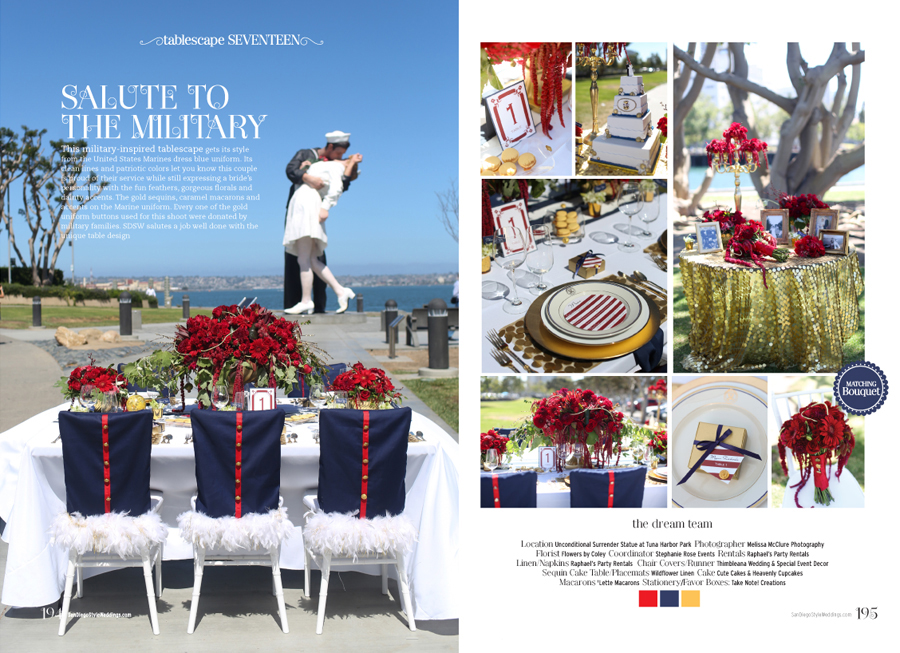 Military san diego style weddings