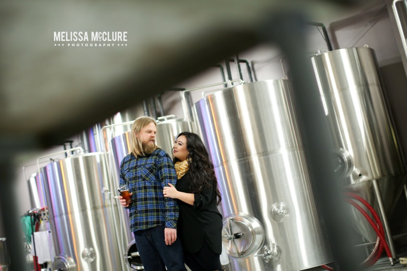 Portland brewery Engagement session 06