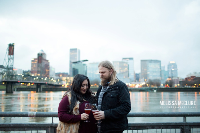 Portland brewery Engagement session 12
