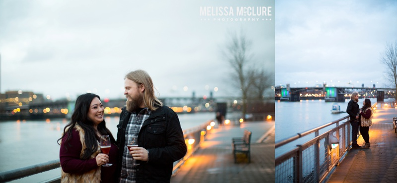Portland brewery Engagement session 14